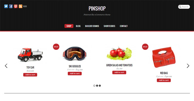 Pinshop WordPress Theme