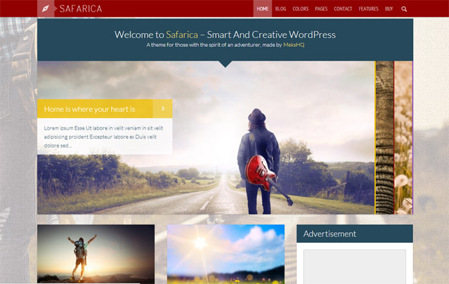 Safarica WordPress Theme