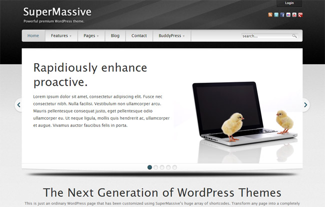 SuperMassive WordPress Theme