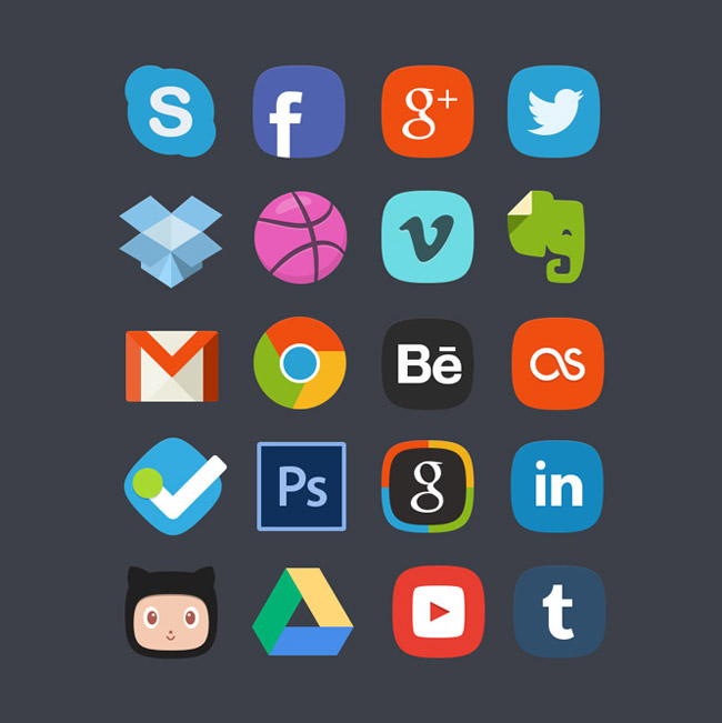 Social Media Badges Icons
