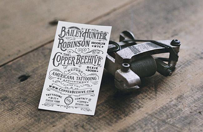 Americana Tattooing Letterpress