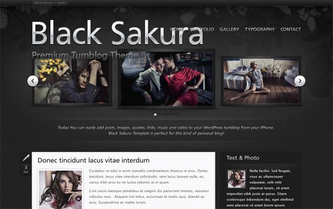 Black Sakura WordPress Theme