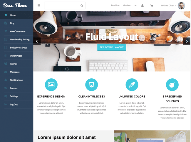 Boss WordPress Theme