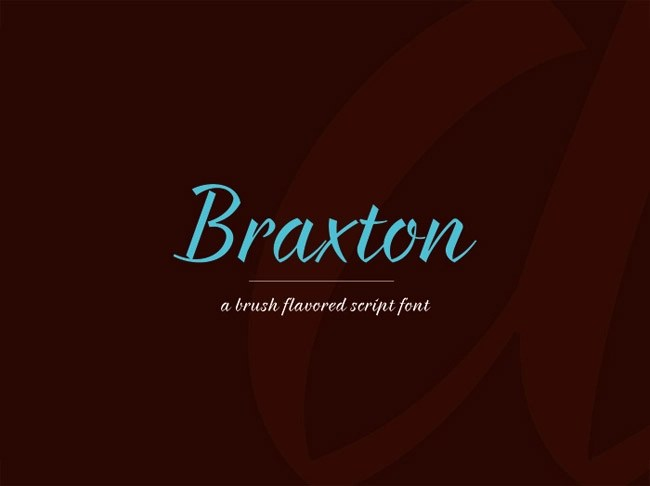 Braxton Free Font Logo