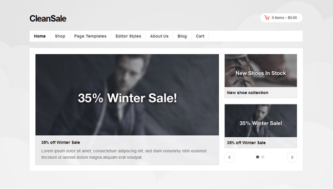 CleanSale WordPress Theme