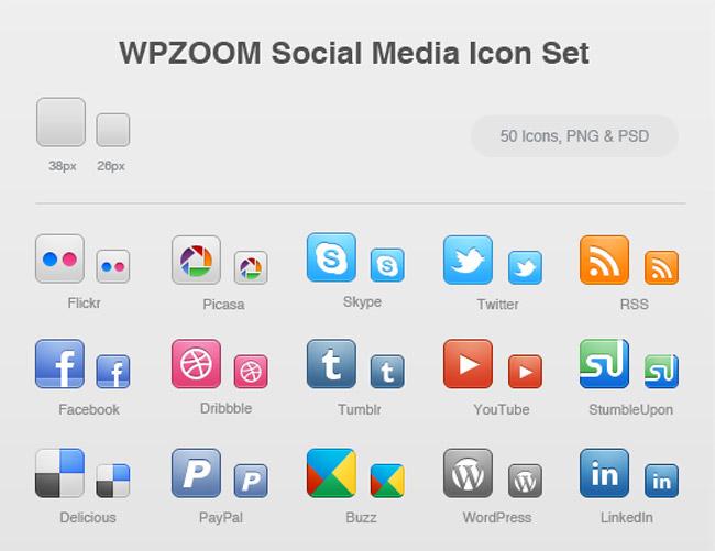 WPZOOM Social Media Icons Set