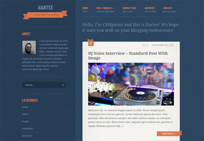 Hartee WordPress Theme