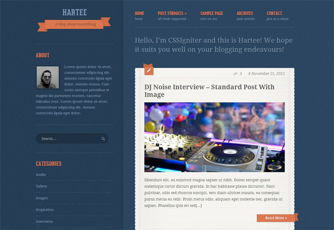 Hartee WordPress Theme