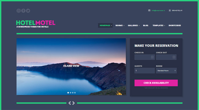 HotelMotel WordPress Theme
