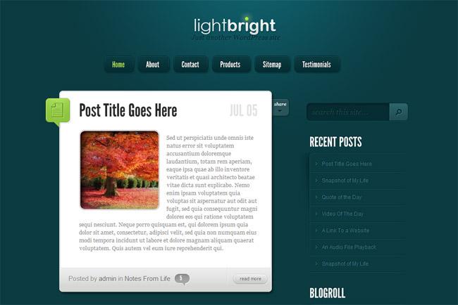 LightBright WordPress Theme