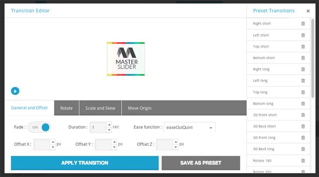 Master Slider Transition Editor