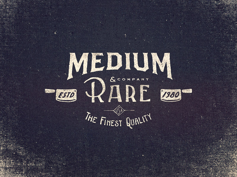 Medium Rare Wordmark Logo