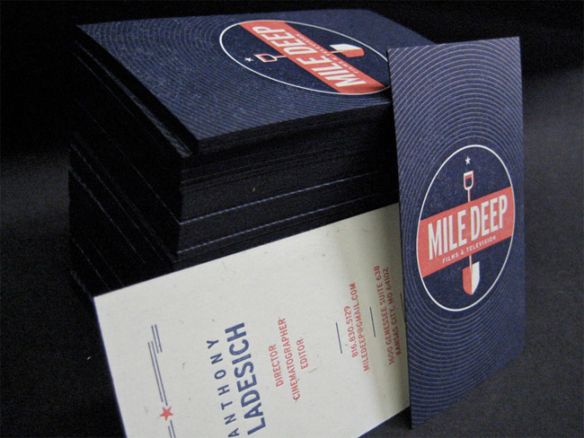 Mile Deep Films & Television Business Card