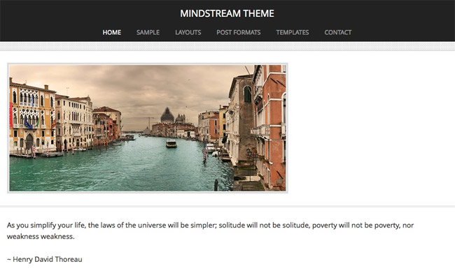 Mindstream WordPress Theme
