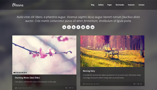 Obscura WordPress Theme