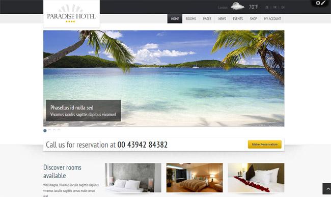 Paradise Hotel WordPress Theme