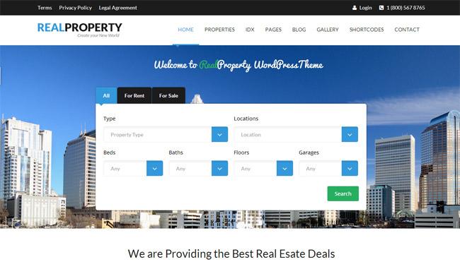Real Property WordPress Theme