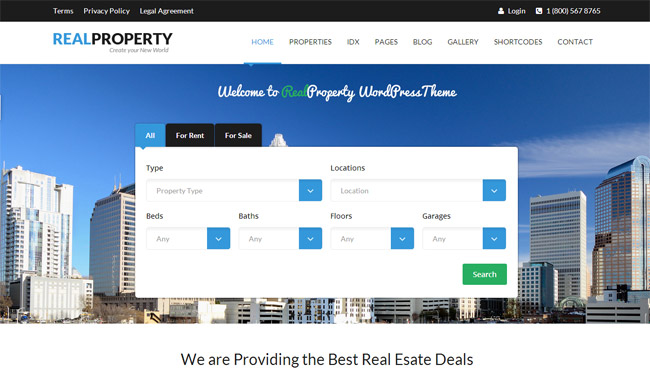 Real Property WordPress Theme