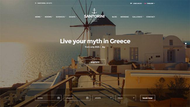 Santorini WordPress Theme