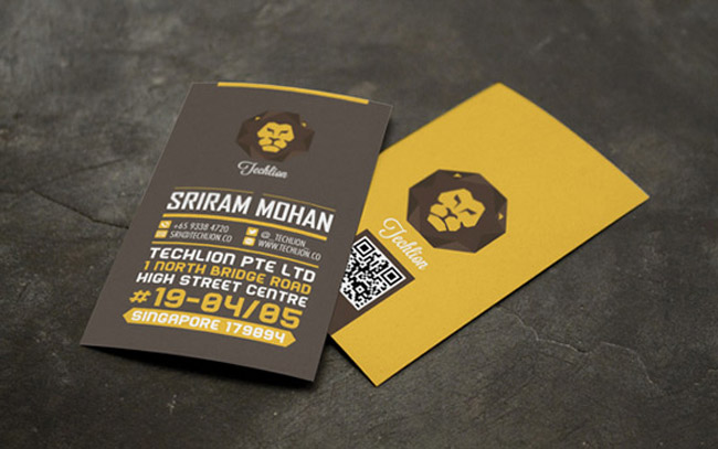 Techlion Corporate Branding Project Business Card