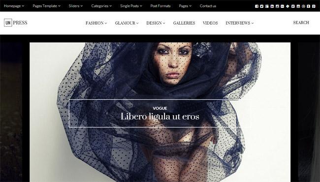 unPress Magazine WordPress Theme