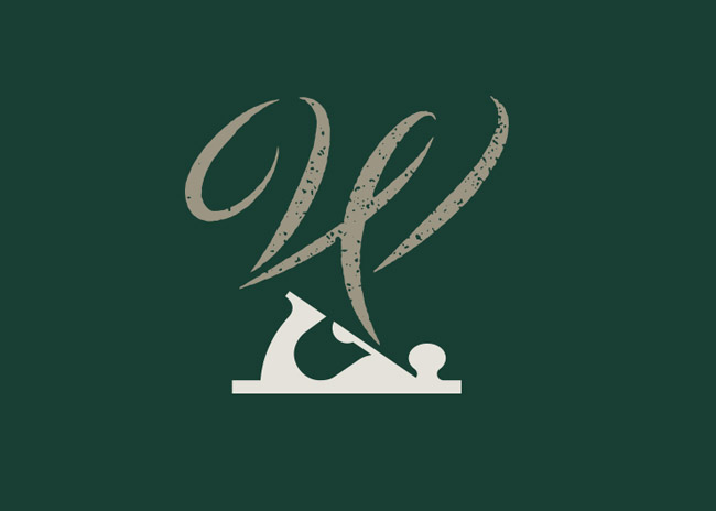 W is for Wood Logo