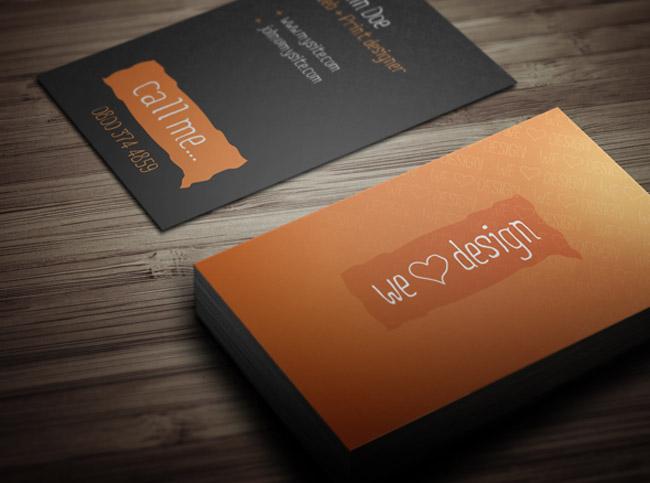 We Love Design Business Card