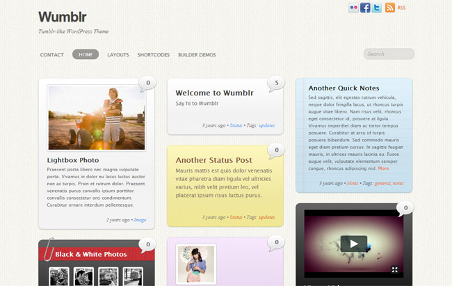 Wumblr WordPress Theme