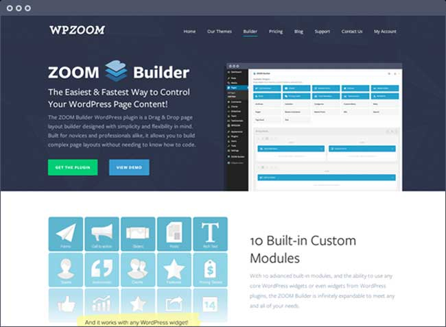 Zoom Builder plugin
