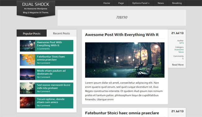 DualShock Free WordPress Theme
