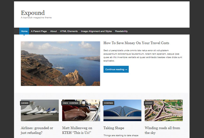 Expound Free WordPress Theme