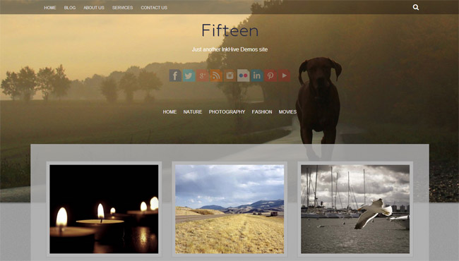 Fifteen Free WordPress Theme