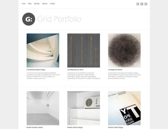 Grid Portfolio WordPress Theme