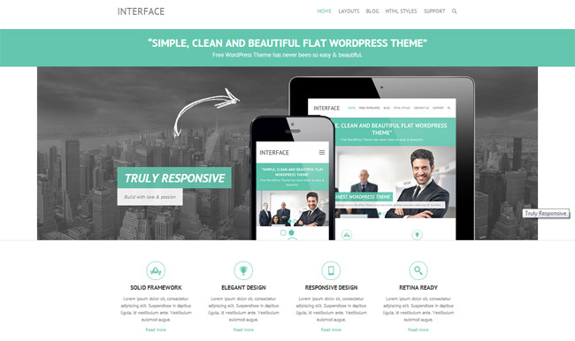 Interface Free WordPress Theme