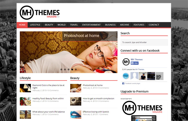 MH Magazine lite Free WordPress Theme
