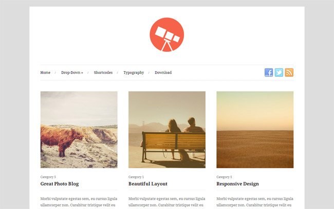 Photo Free WordPress Theme