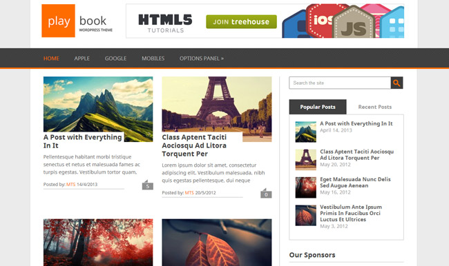 Playbook Free WordPress Theme