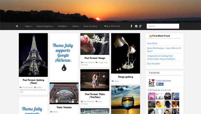 PR Pin WordPress Theme
