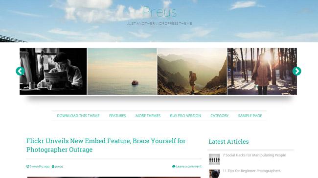 Preus Free WordPress Theme