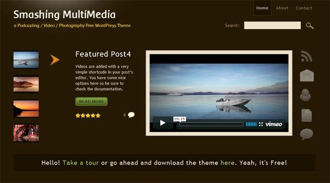 Smashing Multimedia WordPress Theme