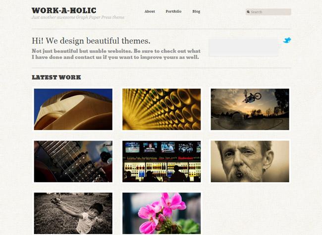 Workaholic WordPress Theme