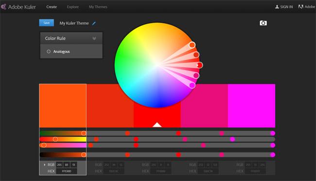 Adobe Kuler Color Picker Website