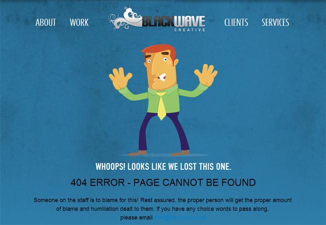 Black Wave Creative Error Page