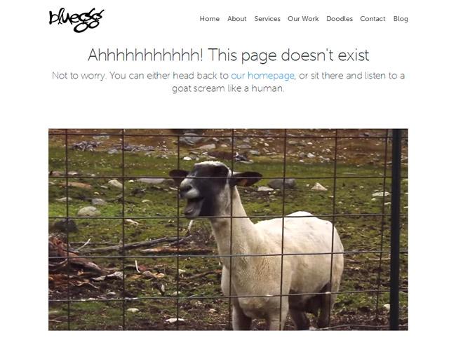 Bluegg Error Page