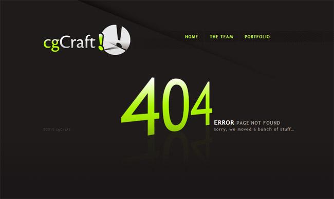 CG Craft Error Page