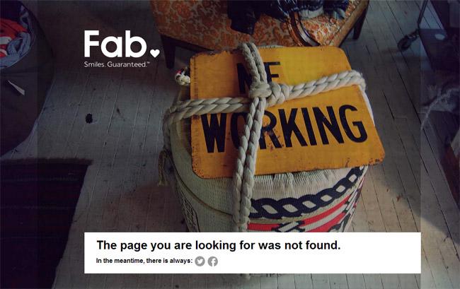 Fab Error Page