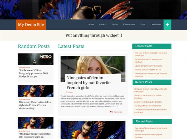 FlatThirteen Free WordPress Theme