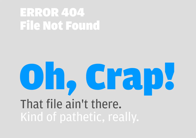 Itchy Robot Error Page