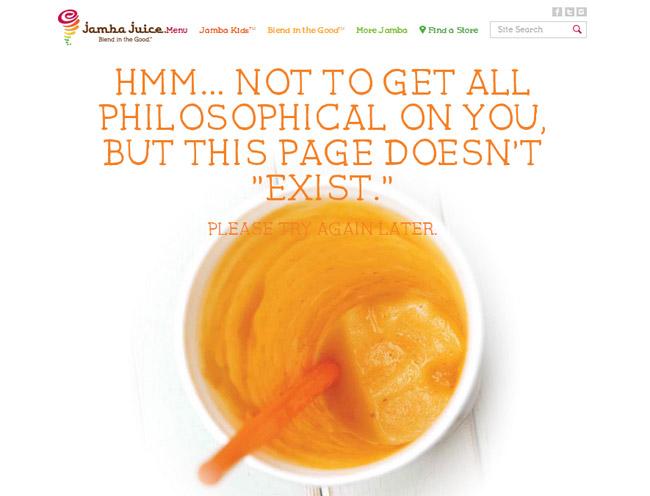 Jamba Juice Error Page