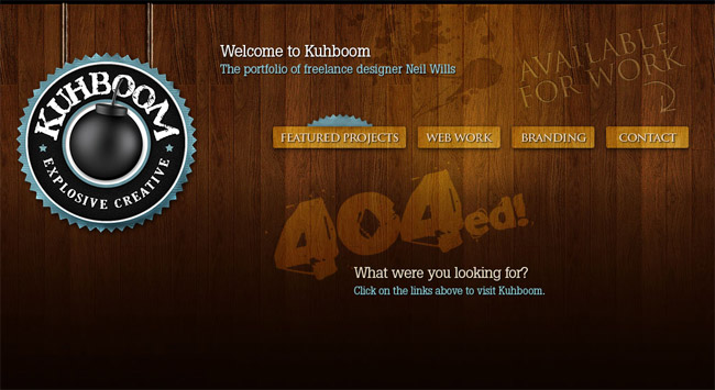 KuhBoom Error Page